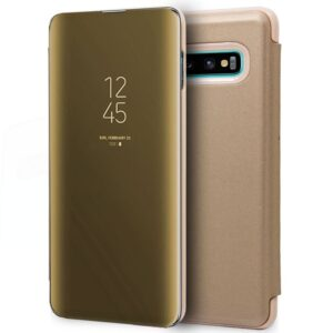 Funda Flip Cover Samsung G975 Galaxy S10 Plus Clear View Dorado