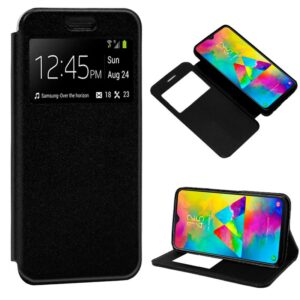 Funda Flip Cover Samsung M205 Galaxy M20 Liso Negro