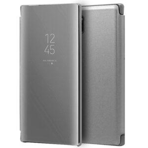 Funda Flip Cover Samsung N975 Galaxy Note 10 Plus Clear View Plata
