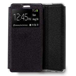 Funda Flip Cover Samsung N980 Galaxy Note 20 Liso Negro