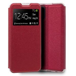 Funda Flip Cover Xiaomi Mi 10 Lite Liso Rojo