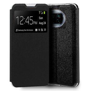 Funda Flip Cover Xiaomi Mi 10T Lite Liso Negro