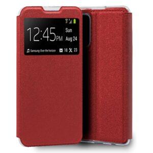 Funda Flip Cover Xiaomi Mi 10T / Mi 10T Pro Liso Rojo