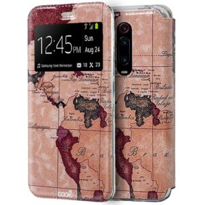 Funda Flip Cover Xiaomi Mi 9T / Mi 9T Pro Dibujos Mapa