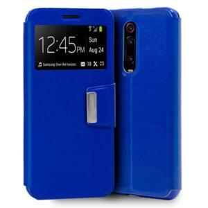 Funda Flip Cover Xiaomi Mi 9T / Mi 9T Pro Liso Azul