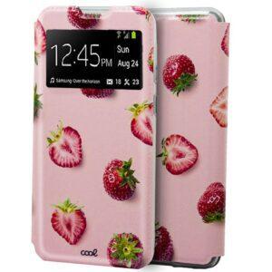 Funda Flip Cover Xiaomi Mi Note 10 Lite Dibujos Fresas