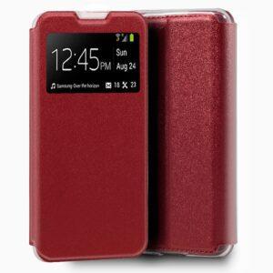 Funda Flip Cover Xiaomi Mi Note 10 Lite Liso Rojo