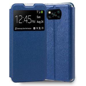 Funda Flip Cover Xiaomi Pocophone X3 Liso Azul