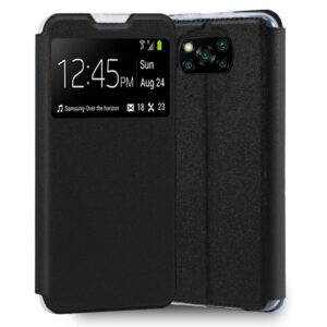 Funda Flip Cover Xiaomi Pocophone X3 Liso Negro