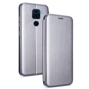 Funda Flip Cover Xiaomi Redmi Note 9 Elegance Plata