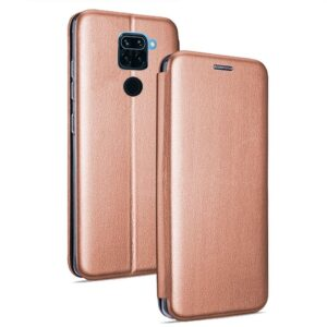 Funda Flip Cover Xiaomi Redmi Note 9 Elegance Rose Gold