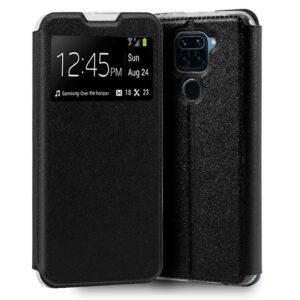 Funda Flip Cover Xiaomi Redmi Note 9 Liso Negro