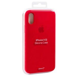 Funda Original IPhone X / IPhone XS Silicon Case RED (Con Blister)