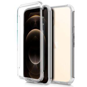 Funda Silicona 3D IPhone 12 Pro Max (Transparente Frontal + Trasera)
