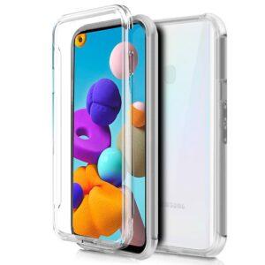 Funda Silicona 3D Samsung A217 Galaxy A21s (Transparente Frontal + Trasera)