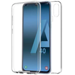 Funda Silicona 3D Samsung A405 Galaxy A40 (Transparente Frontal + Trasera)