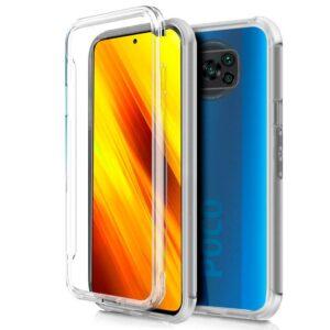 Funda Silicona 3D Xiaomi Pocophone X3 Transparente Frontal + Trasera