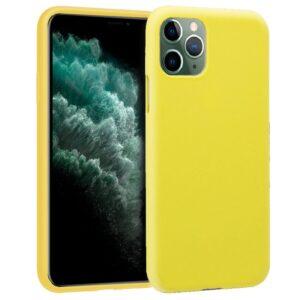 Funda Silicona IPhone 11 Pro Max (Amarillo)