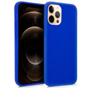 Funda Silicona IPhone 12 Pro Max (Azul)