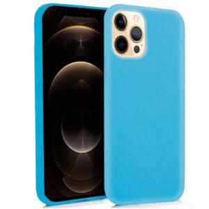 Funda Silicona IPhone 12 Pro Max (Celeste)