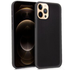 Funda Silicona IPhone 12 Pro Max (Negro)