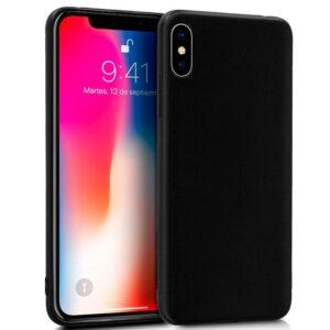Funda Silicona IPhone X / IPhone XS (Negro)