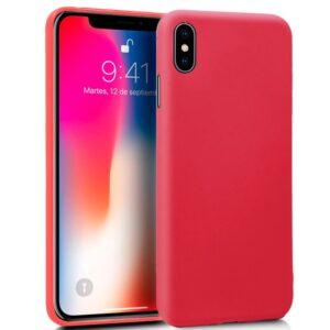 Funda Silicona IPhone X / IPhone XS (Rojo)