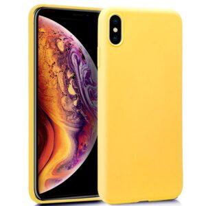 Funda Silicona IPhone XS Max (Amarillo)