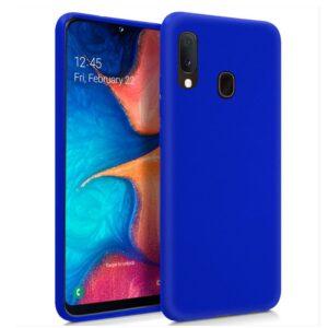 Funda Silicona Samsung A202 Galaxy A20e Azul
