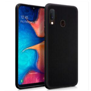 Funda Silicona Samsung A202 Galaxy A20e Negro