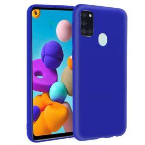 Funda Silicona Samsung A217 Galaxy A21s (Azul)