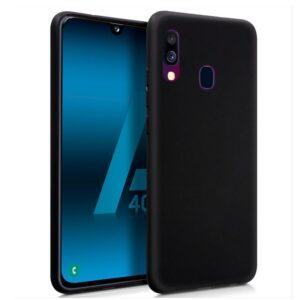 Funda Silicona Samsung A405 Galaxy A40 (Negro)
