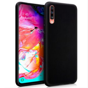 Funda Silicona Samsung A705 Galaxy A70 (Negro)