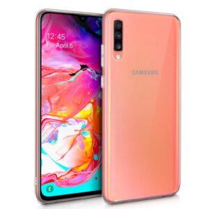 Funda Silicona Samsung A705 Galaxy A70 (Transparente)