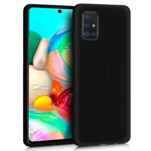 Funda Silicona Samsung A715 Galaxy A71 (Negro)