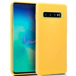 Funda Silicona Samsung G975 Galaxy S10 Plus (Amarillo)