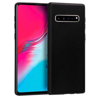 Funda Silicona Samsung G977 Galaxy S10 5G (Negro)