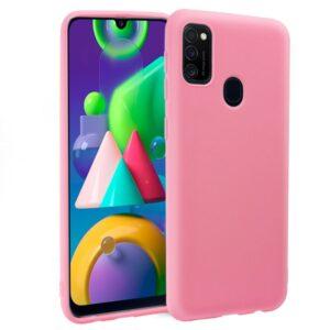 Funda Silicona Samsung M215 Galaxy M21 (Rosa)