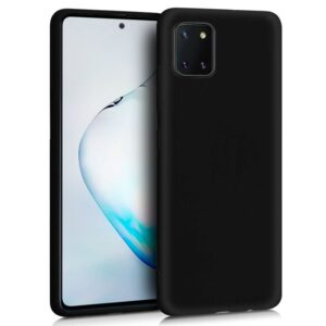 Funda Silicona Samsung N770 Galaxy Note 10 Lite (Negro)
