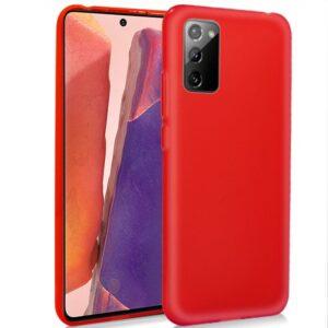 Funda Silicona Samsung N980 Galaxy Note 20 (Rojo)