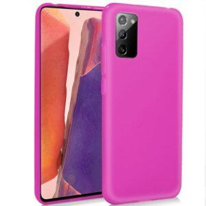 Funda Silicona Samsung N980 Galaxy Note 20 (Rosa)