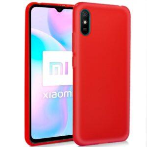 Funda Silicona Xiaomi Redmi 9A / 9AT (Rojo)