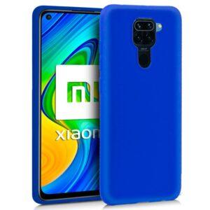 Funda Silicona Xiaomi Redmi Note 9 (Azul)