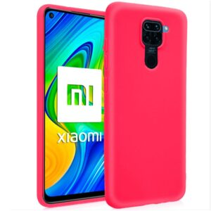 Funda Silicona Xiaomi Redmi Note 9 (Rosa)
