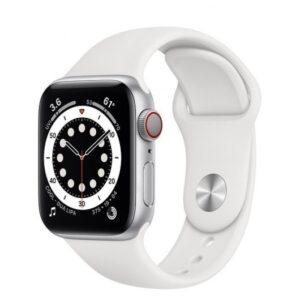 Apple Watch 6 GPS + Cellular 40mm Aluminio Plata – Correa deportiva Blanca