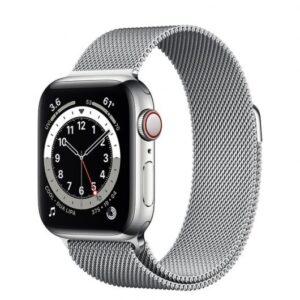 Apple Watch 6 GPS + Cellular 40mm Acero Plata/Correa milanese loop Plata