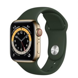 Apple Watch 6 GPS + Cellular 40mm Acero Oro/Correa deportiva Verde Chipre