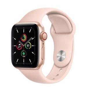 Apple Watch SE GPS + Cellular 40 mm aluminio Oro/correa deportiva Rosa Arena