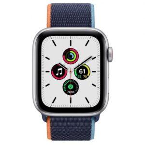 Apple Watch SE GPS + Cellular 44 mm aluminio Plata/correa Loop Azul Marino Prof