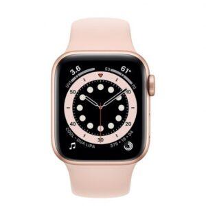 Apple Watch 6 GPS + Cellular 40mm Aluminio Oro – Correa deportiva Rosa Arena